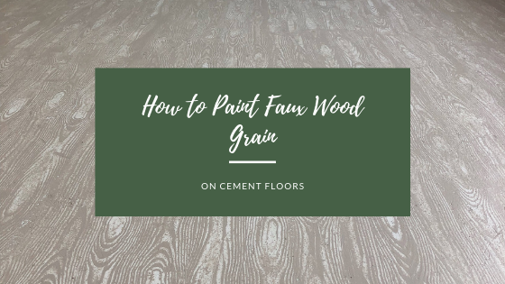 How to Paint Faux Wood Grain Floors