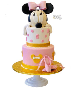 Minnie Mouse Ballet Themed Cake