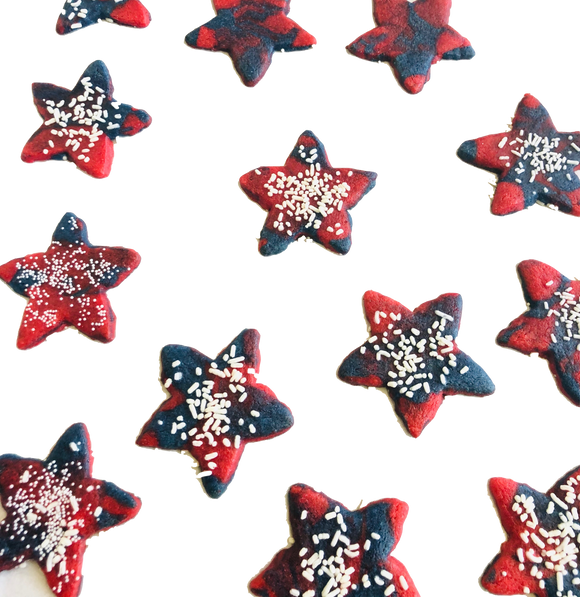 Red, White and Blue Star Cookies - July 4th