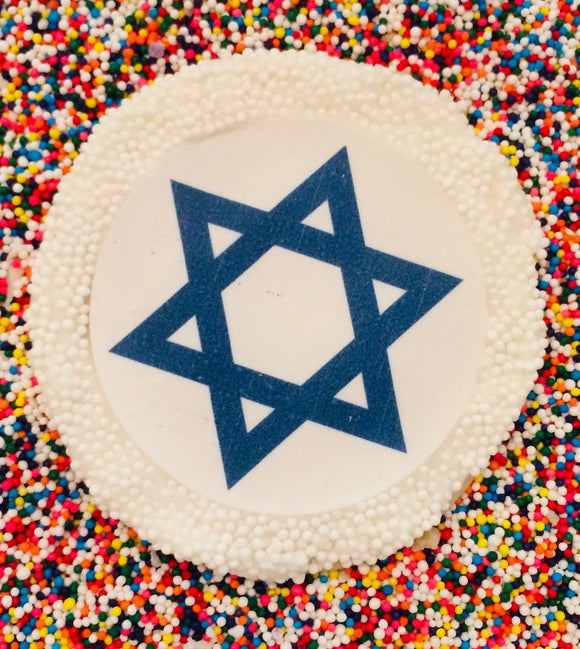 Star of David Sugar Cookies with Nonpareils