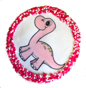 Dinosaur Sugar Cookies with Nonpareils