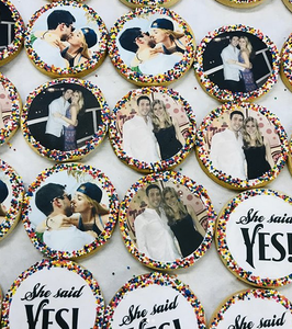 Happy Couple Custom Image Cookies