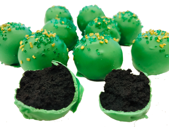 St. Patrick's Day Cake Balls - Desserts, Parties