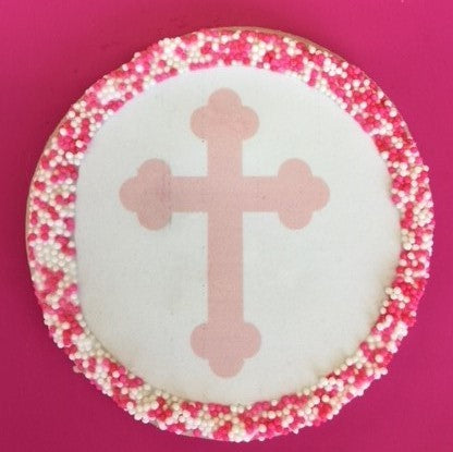 Christening Sugar Cookies with Nonpareils