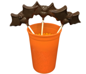 Chocolate Bat Lollipops