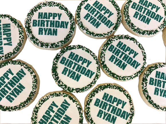 Custom Birthday Message Cookies