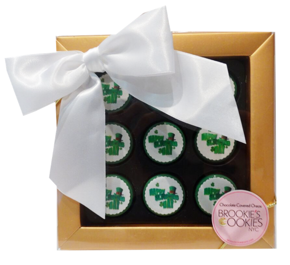 St. Patrick's Day Mini Chocolate Covered Oreos Gift Box
