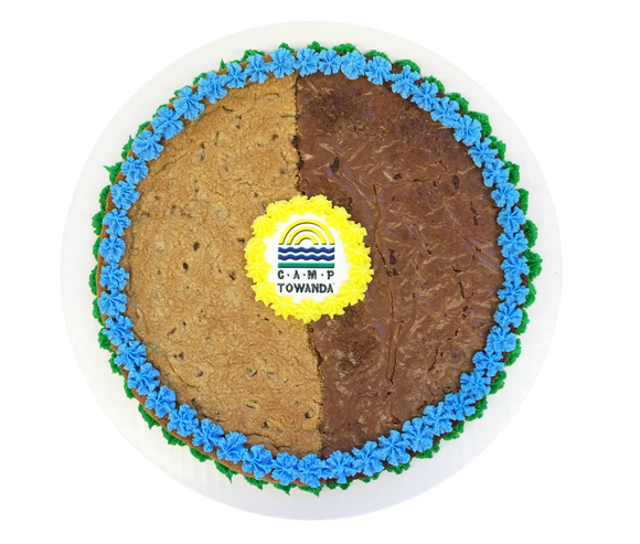 The Brookie Cookie Cake with Logo