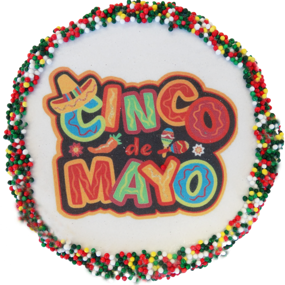 Cinco de Mayo Sugar Cookies With Sprinkles