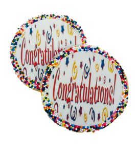 Congratulations! Sugar Cookies with Nonpareils