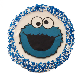 Cookie Monster Sugar Cookies with Nonpareils