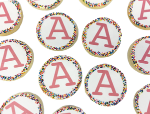 'Initial' Sugar Cookies with Nonpareils