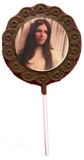 Custom Image/Logo Scalloped Chocolate Lollipops
