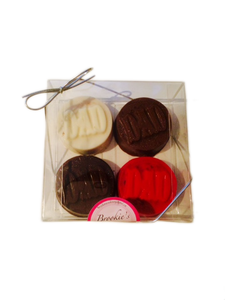 "Assorted ""Dad"" Chocolate Covered Oreos - 4 Pack"
