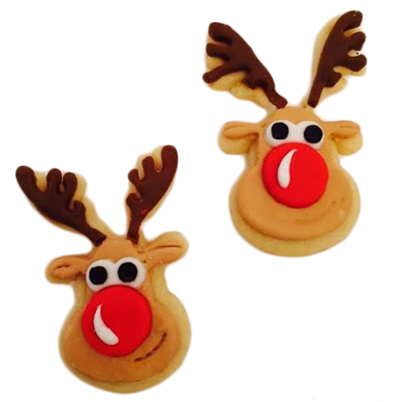 Rudolph the Red-Nosed Reindeer Cookies