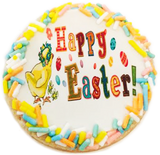 """Happy Easter"" Sugar Cookies With Sprinkles"