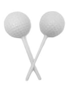 White Chocolate Golf Ball Lollipops