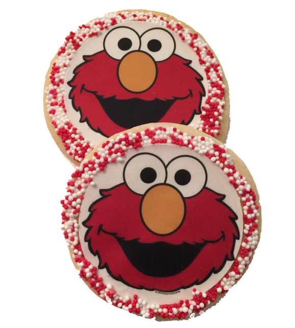 Elmo Sugar Cookies with Nonpareils