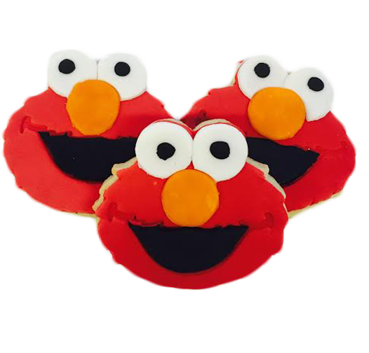 Elmo Cookies with Fondant
