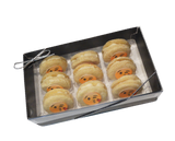 Appetizer Sandwich Cookies with Kiss Emoji - 9 Pack
