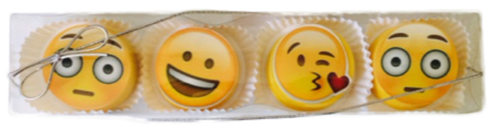 Assorted Emoji Chocolate Covered Oreos - 4 pack