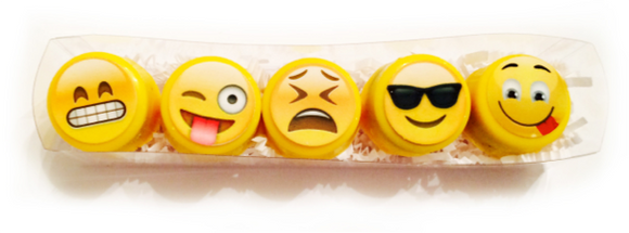 Assorted Emoji Mini Chocolate Covered Oreos - 5 pack