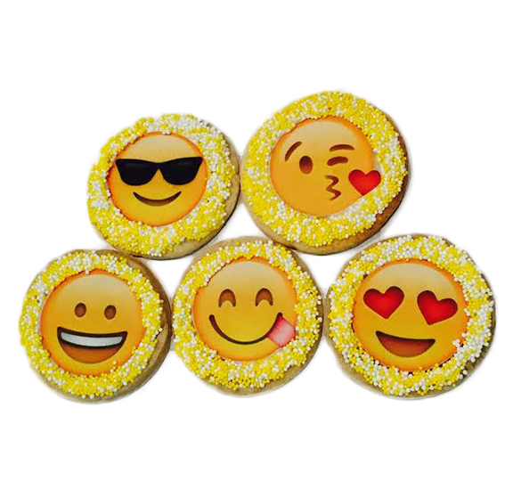 Emoji Sugar Cookies with Nonpareils