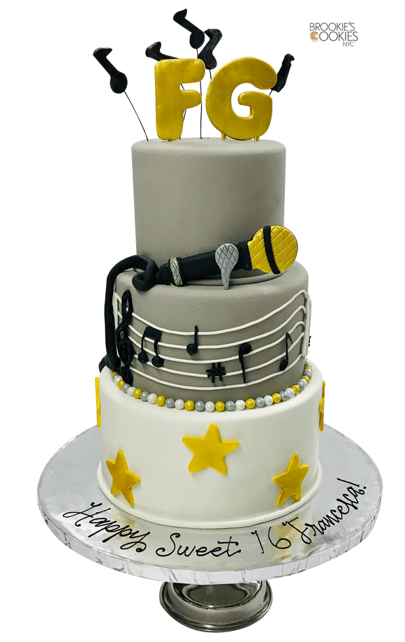 Sweet 16 Cake - Singer Themed