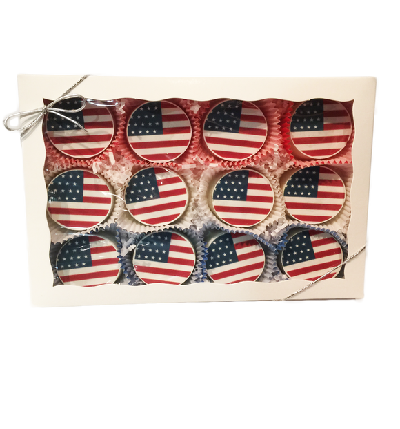 American Flag Chocolate Covered Oreo Gift Box