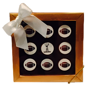 Super Bowl Themed Mini Chocolate Covered Oreos Gift Box