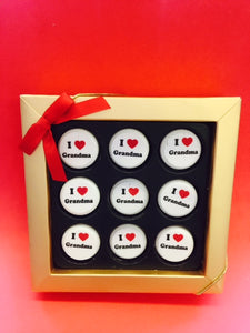 """I Love Grandma"" Mini Chocolate Covered Oreos Gift Box"