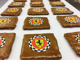 Chocolate Covered Grahams with Personalized Ferrari Logo