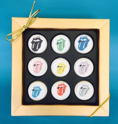 Rolling Stones Mini Chocolate Covered Oreos