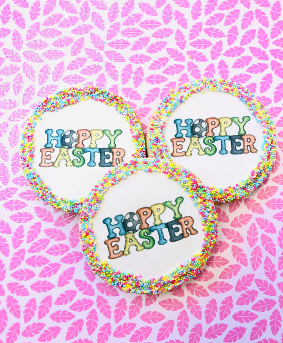 Hoppy Easter Sugar Cookies With Nonpareils