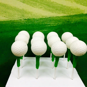 Golf Ball and Tee Cake Pops