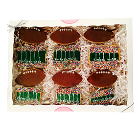 Football Themed Sugar Cookie Gift Box