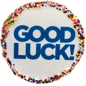 """Good Luck"" Sugar Cookies With Sprinkles"