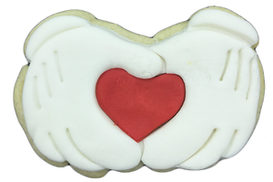 Mickey Hands with Hearts Cookies