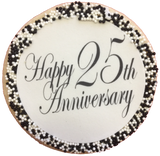 Happy Anniversary Sugar Cookies with Nonpareils