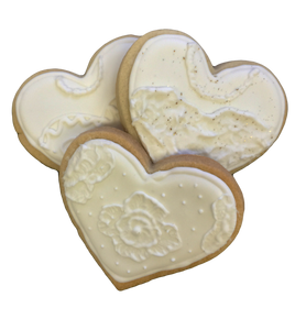 Wedding Heart Cookies