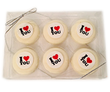 """I Love You"" Chocolate Covered Oreo Gift Box"