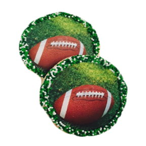 Football On Field Sugar Cookies