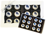Mini Chocolate Covered Oreos 12 Pack with Logo