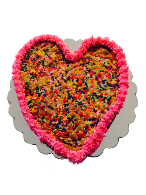 Heart - Shaped Cookie Cake