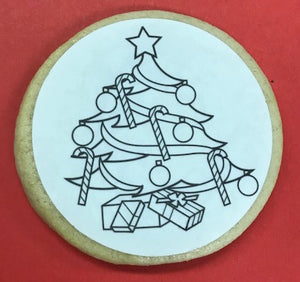 "Holiday ""Color Me"" Cookie"