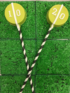 Chocolate Covered Oreo Yard Line Lollipop