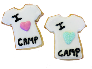 """I Love Camp"" T-Shirt Cookies"
