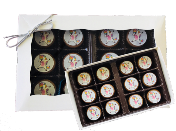 Unicorn Mini Chocolate Covered Oreos 12 Pack