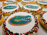 Customized College Logo Sugar Cookies with Sprinkles