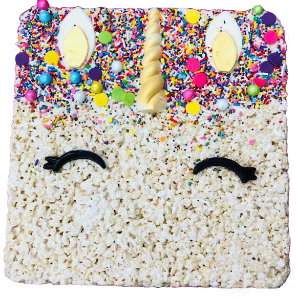 Unicorn Rice Krispy Cake